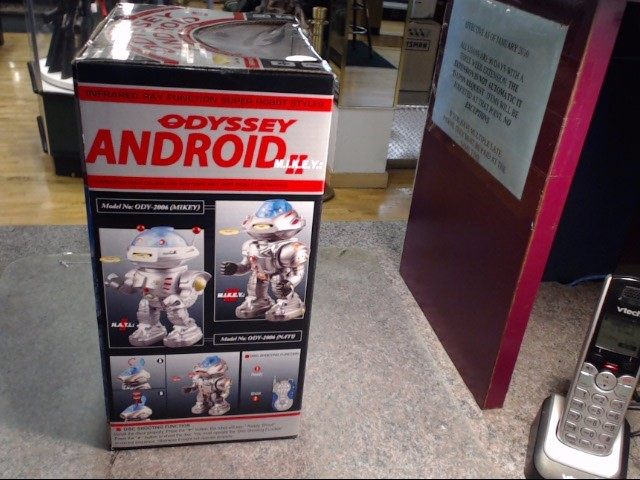 odyssey android infa red robot