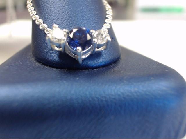 Tanzanite Stone Necklace 925 Silver 3.6g
