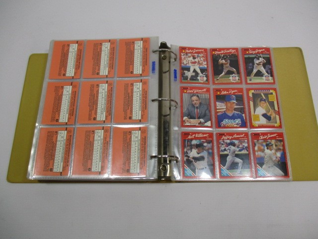 LOT OF 3 BINDERS - BASEBALL CARD COLLECTION 1989 1990 TOPPS 1990 DONRUSS