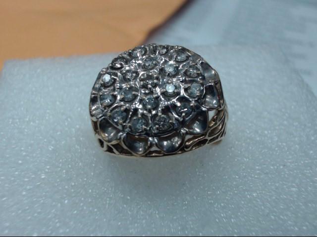 Gent's Diamond Cluster Ring 36 Diamonds .36 Carat T.W. 10K Yellow Gold 5dwt