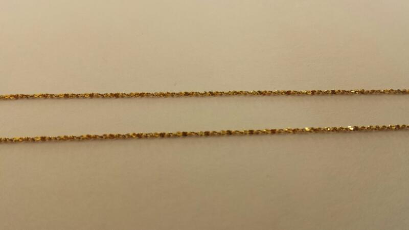 "18k 14.5"" Yellow Gold Fine Chain"