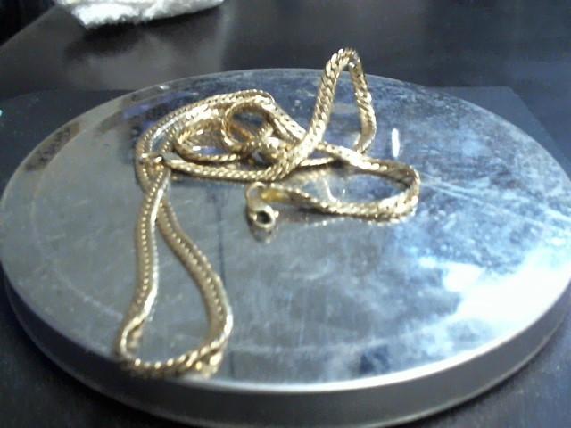 Gold Herringbone Chain 10K Yellow Gold 9.2g