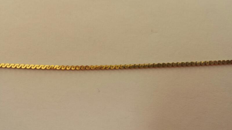 """14k 8.5"""" Yellow Gold Snake Bracelet"""