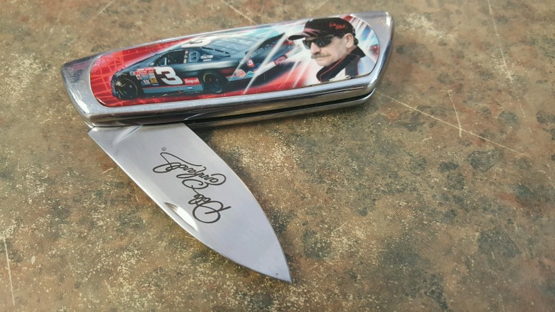 FRANKLIN MINT Pocket Knife KNIFE NASCAR EARNHARDT