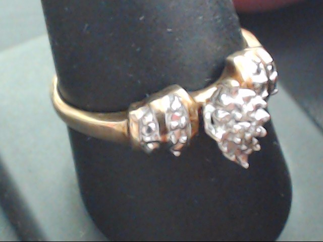 ESTATE DIAMOND CLUSTER RING SOLID 10K YELLOW GOLD FINE SIZE 10
