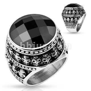 Gent's Ring Silver Stainless 17.77dwt