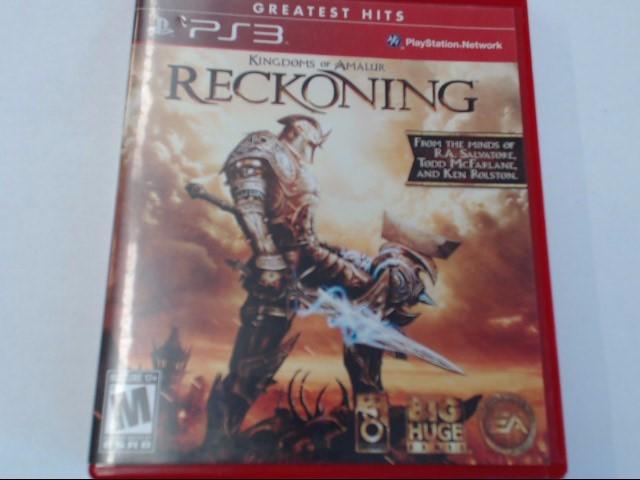 RECKONING PS3 GAME