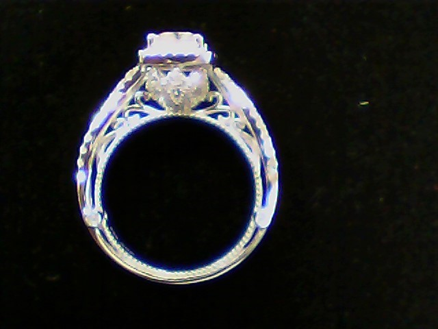 White Stone Lady's Silver & Stone Ring 925 Silver 5.6g