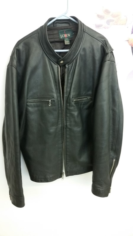Clothing BLACK LEATHER JACKET