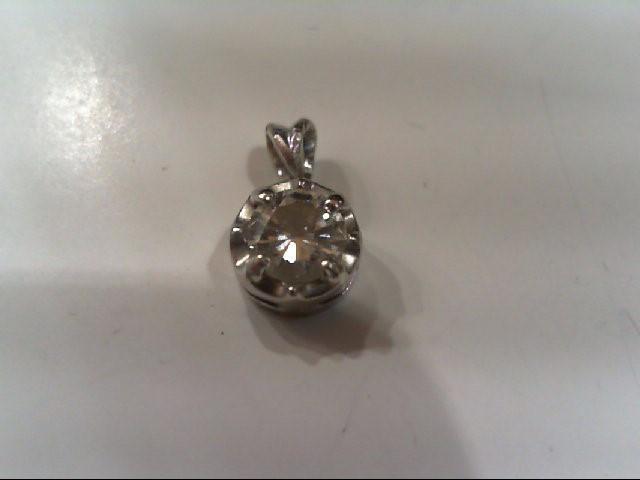 Gold-Diamond Solitaire Pendant .35 CT. 14K White Gold 0.05g