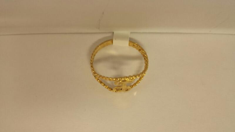 14k Yellow Gold Ring with 'L""