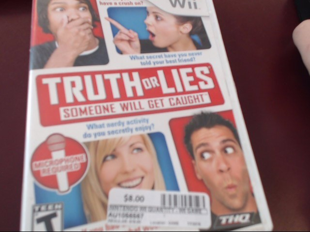 NINTENDO WII TRUTH OR LIES