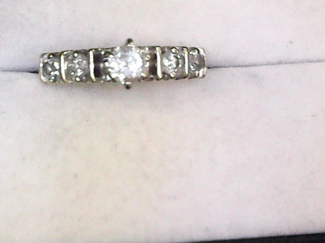 Lady's Diamond Engagement Ring 5 Diamonds .35 Carat T.W. 14K Yellow Gold 2.3dwt