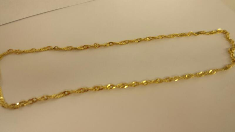 """19"""" Gold Curb Chain 14K Yellow Gold 1.7dwt"""