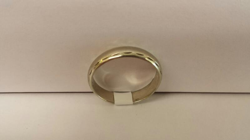 Gentlemen's 14k White Gold Plain Band