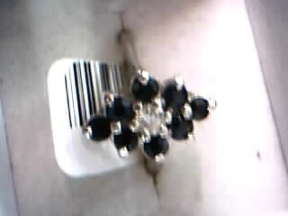 Lady's Diamond Cluster Ring 7 Diamonds .70 Carat T.W. 10K Yellow Gold 2.68g