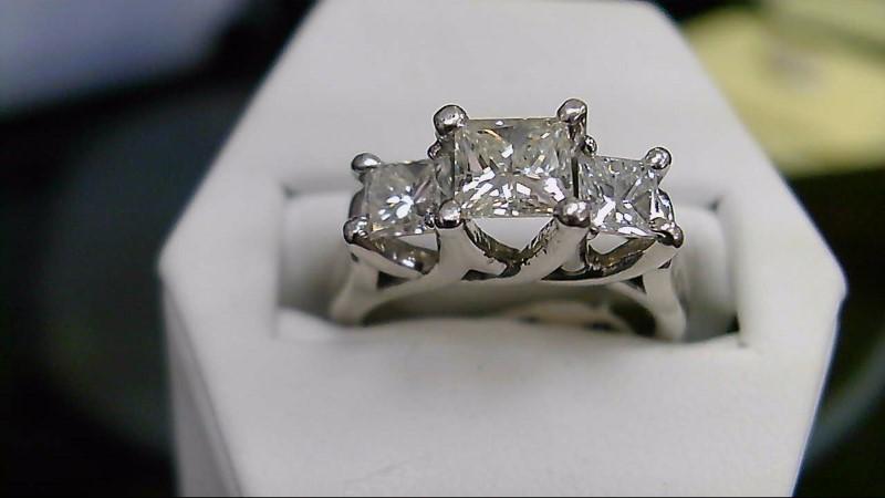 14K White Gold Diamond 1.45 CTTW Engagement Ring 5.8G