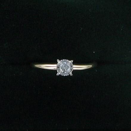 Lady's Diamond Engagement Ring .03 CT. 14K Yellow Gold 1.3dwt