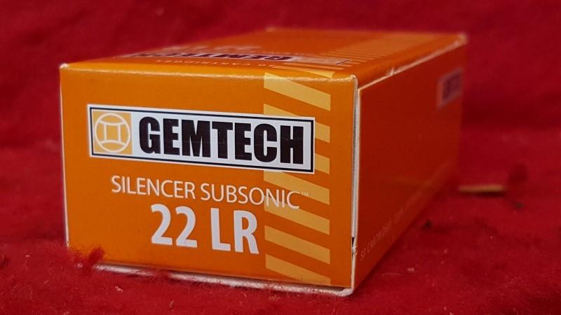 GEMTECH 22LR SILENCER SUBSONIC 42GR 1020 FPS