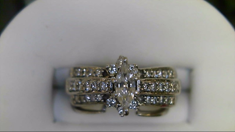 Lady's Diamond Wedding Set 39 Diamonds .65 Carat T.W. 14K White Gold 5.1g