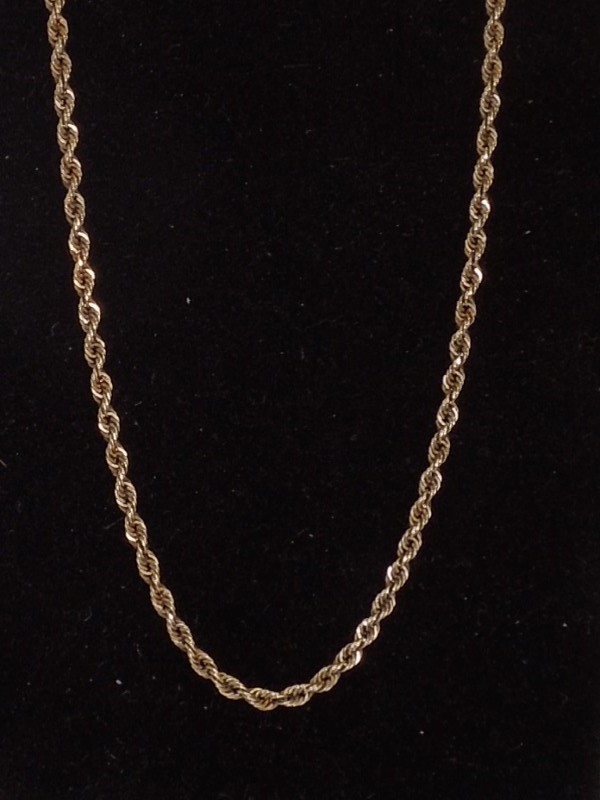 "18"" Gold Rope Chain 14K Yellow Gold 6.5g"
