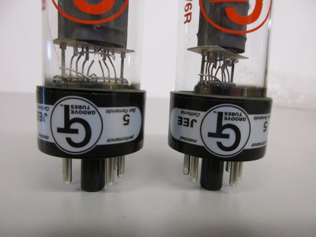 TWO (2) GROOVE TUBE 6V6 POWER TUBES.  APPEAR UNUSED, IN ORIGINAL PACKAGING.