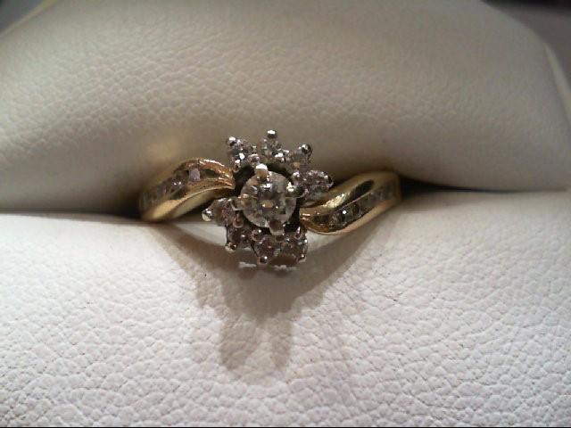 Lady's Diamond Wedding Set 19 Diamonds .60 Carat T.W. 14K Yellow Gold 3.3g