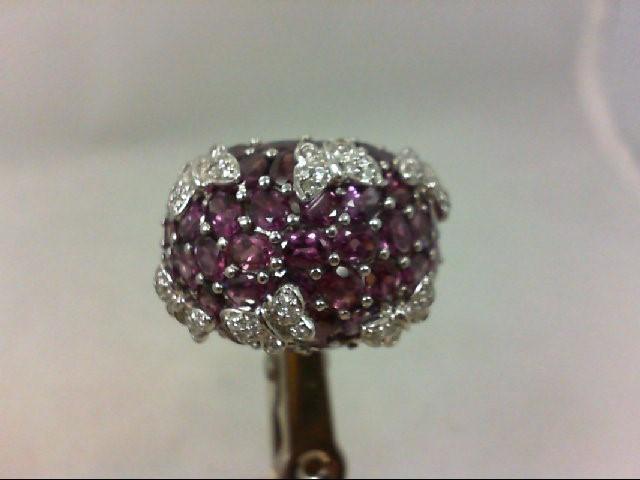 Pink Tourmaline Lady's Stone & Diamond Ring 48 Diamonds .25Carat T.W.