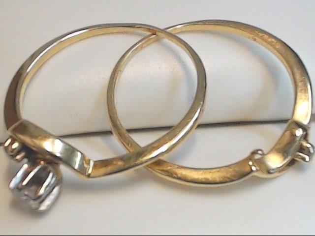 Lady's Diamond Wedding Set 3 Diamonds .14 Carat T.W. 14K Yellow Gold 2.4g
