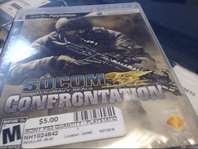 SONY PS3 SOCOM CONFRONTATION