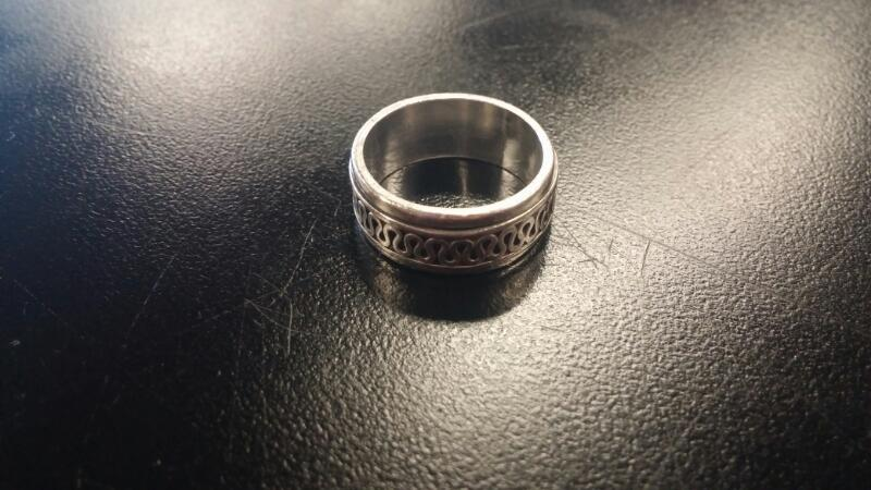 Gent's Silver Ring 925 Silver 1dwt Size:8