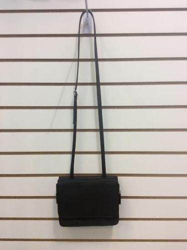 Jennifer Moore Black Nylon Messenger Crossbody Shoulder Bag Purse Handbag