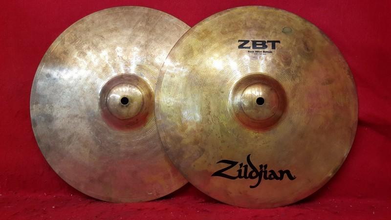 """Zildjian ZBT 14"""" Rock Hi Hats - Brass Cymbals"""