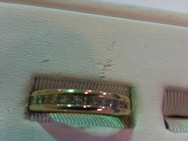 Gent's Gold-Diamond Wedding Band 11 Diamonds .66 Carat T.W. 14K Yellow Gold 4g