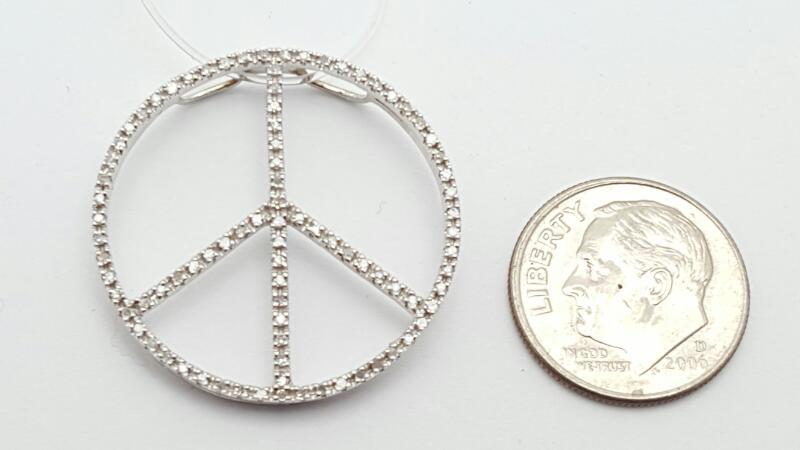 Gold-Multi-Diamond Pendant 81 Diamonds .81 Carat T.W. 14K White Gold 2.3g