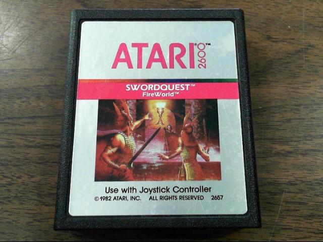 ATARI Vintage Game SWORDQUEST FIREWORLD