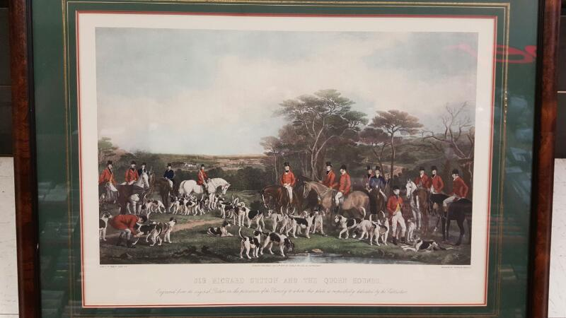 Ant Engraving (after Francis Grant) Sir Richard Sutton & the Quorn Hounds 1855