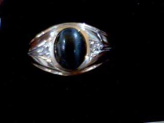 White Stone Lady's Stone Ring 10K Yellow Gold 4.2g