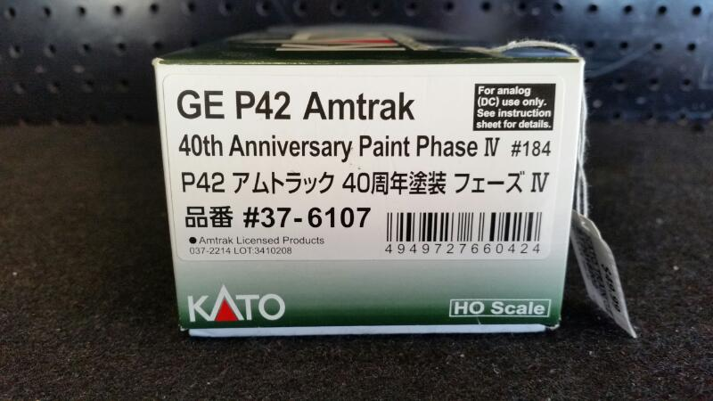 Kato Trains GE P42 40th Anniversary Paint Phase IV #184 | #37-6107