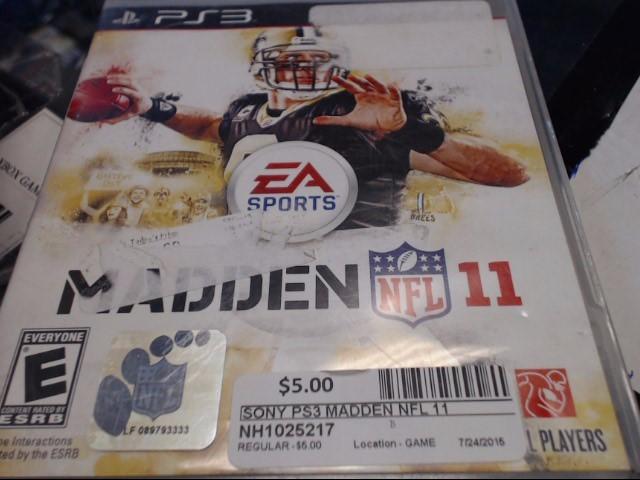 SONY PS3 MADDEN NFL 11
