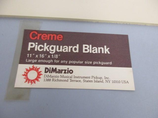 VINTAGE DIMARZIO CREME PICKGUARD BLANK