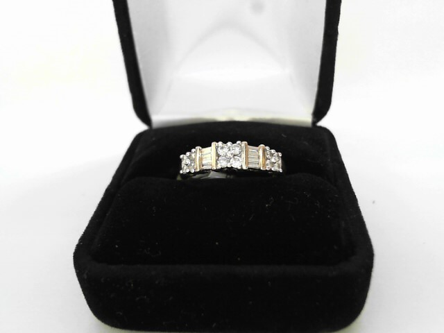 Lady's Diamond Wedding Band 17 Diamonds .85 Carat T.W. 10K Yellow Gold 2dwt