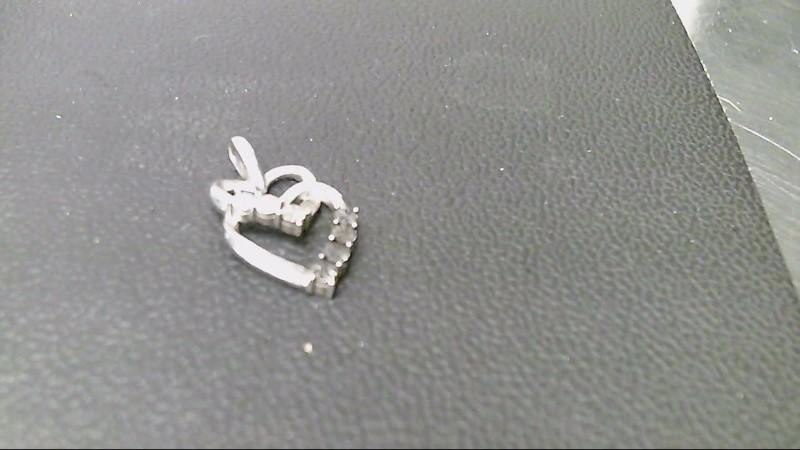 Silver-Diamond Pendant .01 CT. 925 Silver 1.5g