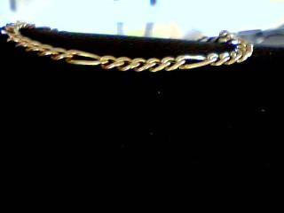 Gold Figaro Bracelet 14K Yellow Gold 4g