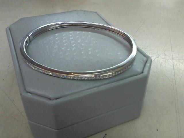 Gold-Diamond Bracelet 51 Diamonds .51 Carat T.W. 14K White Gold 12.2g