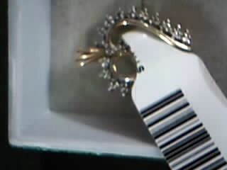 Synthetic Emerald Lady's Stone & Diamond Ring 3 Diamonds .03 Carat T.W.