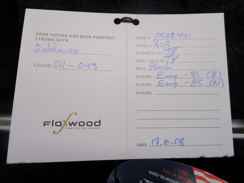 FLAXWOOD AIJA ELECTRIC GUITAR, ORIGINAL CASE CANDY