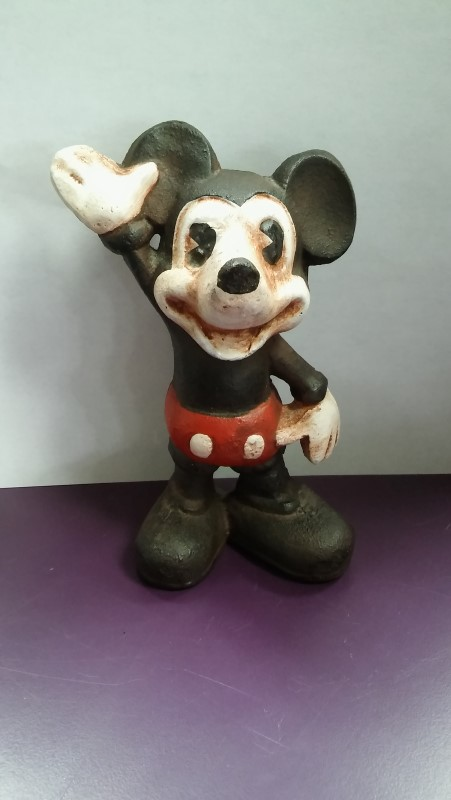 DISNEY MICKEY MOUSE CAST IRON PIGGY BANK