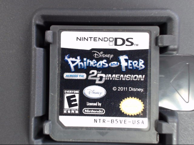 NINTENDO DS GAME PHINEAS AND FERB ACROSS THE 2ND DIMENSION