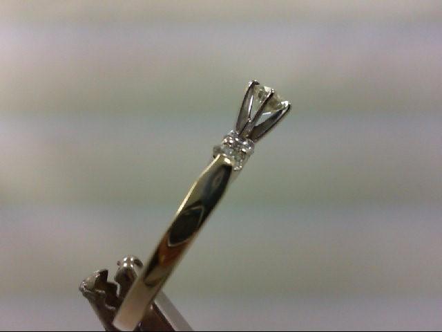 Lady's Diamond Engagement Ring 5 Diamonds .83 Carat T.W. 14K White Gold 3.49g